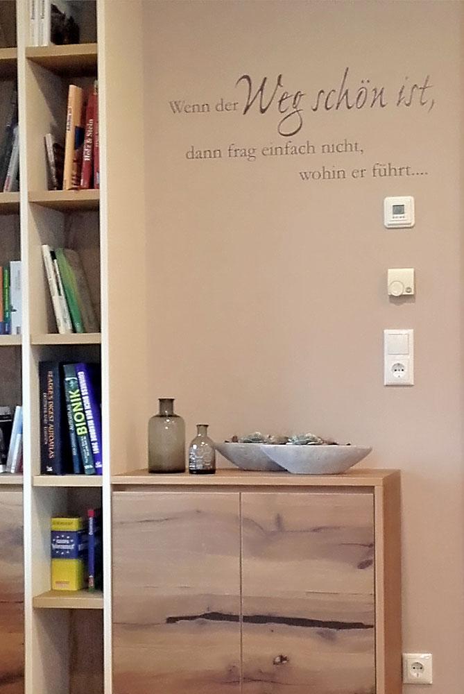 Bevorzugt Folierung auf Glas und Wand – Riedl Wohndesign KO31